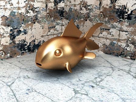 hammer-head-shark-golden-fish