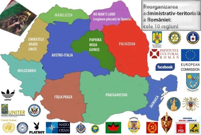 reorganizare teritoriala ROMANIA