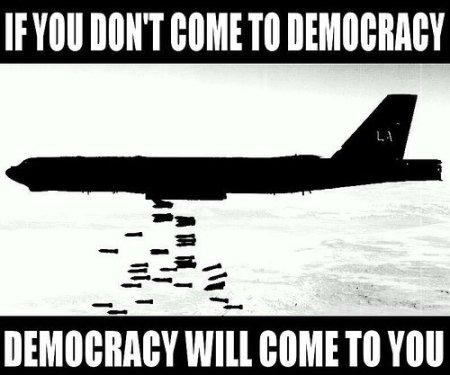 come to democracy please